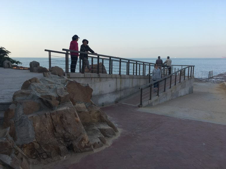 Wheelchair Access in China - Ramp on Beach